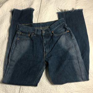 Levi 501 Button Fly Vintage Blue Jeans